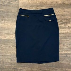 Navy Blue pencil business skirt, Perfect condition